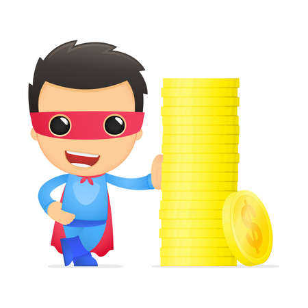 funny cartoon superhero Stock Vector - 13890426