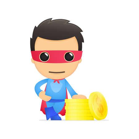 funny cartoon superhero Stock Vector - 13890411