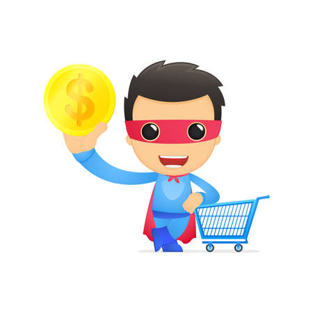 funny cartoon superhero Stock Vector - 13890410