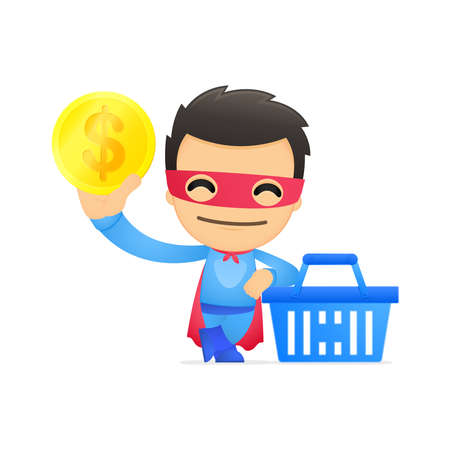 funny cartoon superhero Stock Vector - 13890428