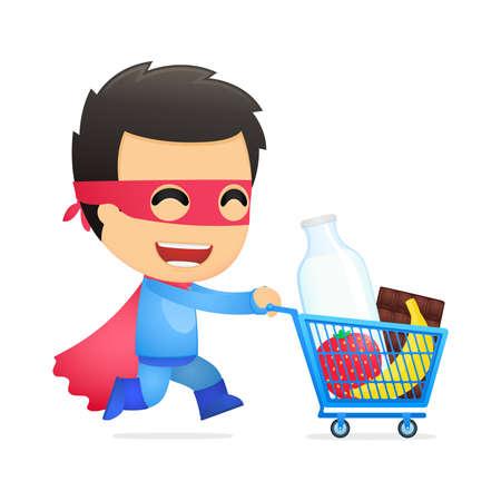 e shop: funny cartoon superhero