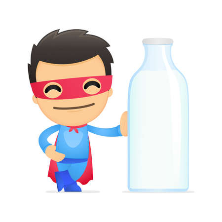funny cartoon superhero Stock Vector - 13890306
