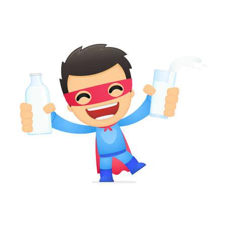 igrave: funny cartoon superhero