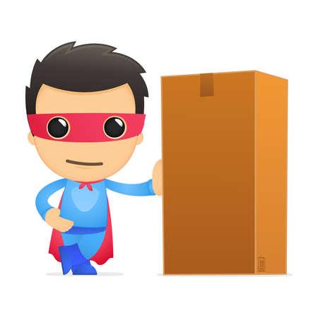 depository: funny cartoon superhero