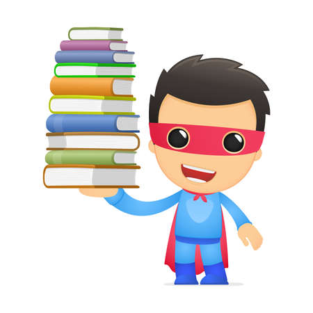 literary man: funny cartoon superhero