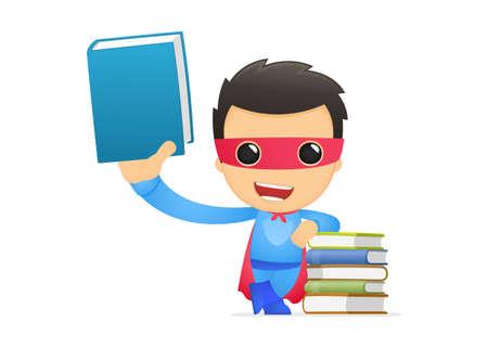 funny cartoon superhero Stock Vector - 13890422