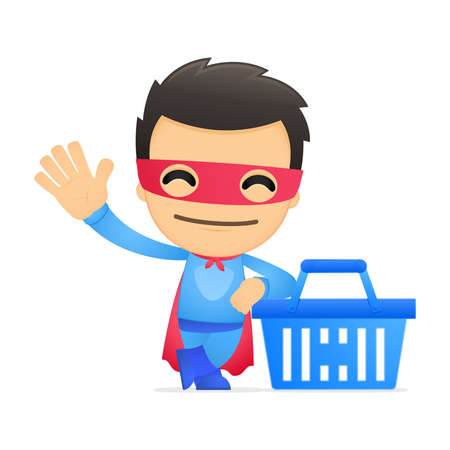 energy market: funny cartoon superhero