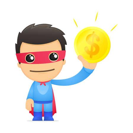 funny cartoon superhero Stock Vector - 13890388