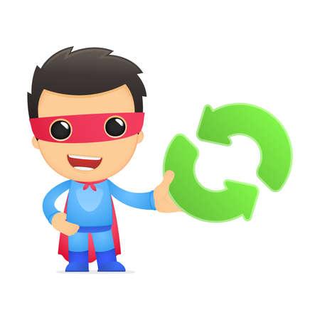energy ranking: funny cartoon superhero