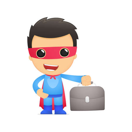 consultant: funny cartoon superhero