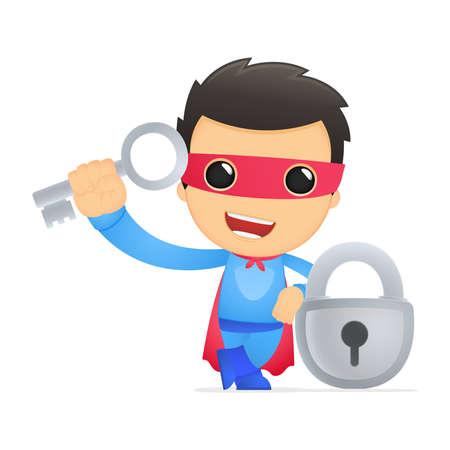 funny cartoon superhero Stock Vector - 13890390