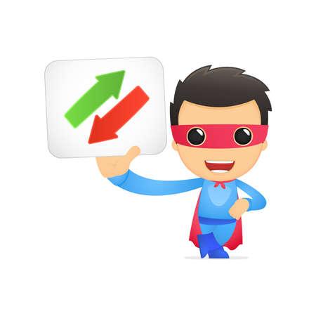 действие: смешно супергероя мультфильмов Иллюстрация