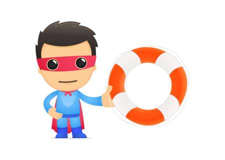 preserver: funny cartoon superhero