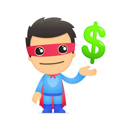 funny cartoon superhero Stock Vector - 13890308