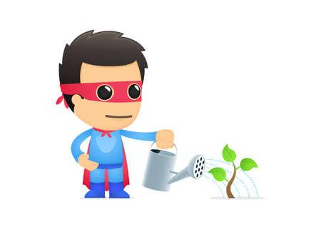 defend: funny cartoon superhero