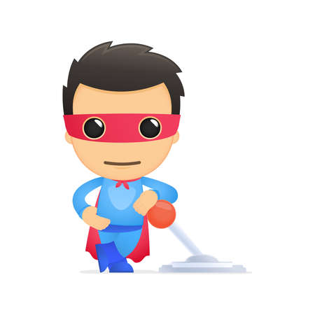 mask protection: funny cartoon superhero
