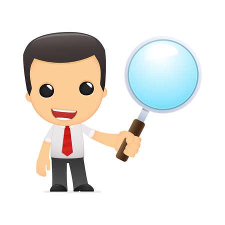 obrero caricatura: gerente de divertidos dibujos animados en varias poses para su uso en publicidad, presentaciones, folletos, blogs, documentos y formularios, etc