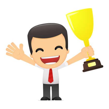 administrador de empresas: director de dibujos animados gracioso en varias poses para su uso en la publicidad, presentaciones, folletos, blogs, documentos y formularios, etc