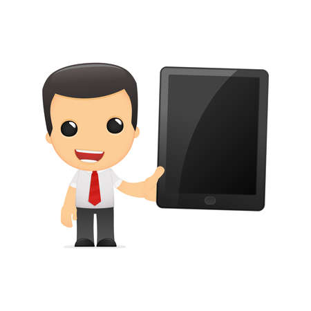 funny cartoon manager in vaus poses for use in advertising, presentations, brochures, blogs, documents and forms, etc. Stock Vector - 14074915