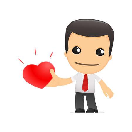 страсть: забавный мультфильм менеджера в разных позах для использования в рекламе, презентации, брошюры, блоги, документы и формы, и т.д.