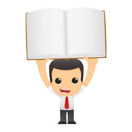 literary characters: funny cartoon manager Illustration