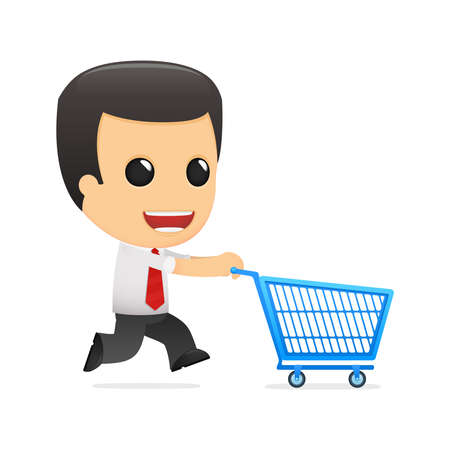 purchasing manager: funny cartoon manager Illustration