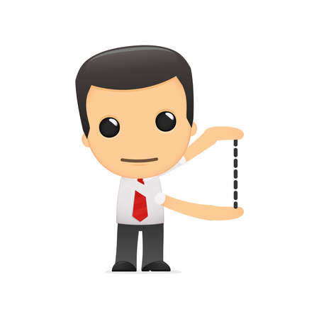 administrador de empresas: gerente de divertidos dibujos animados