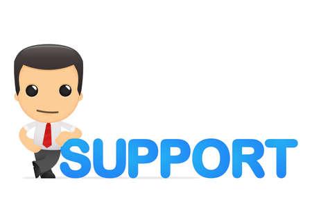 soutien: gestionnaire dr�le de bande dessin�e Illustration