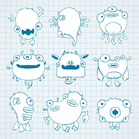 funny monsters Stock Vector - 14485862