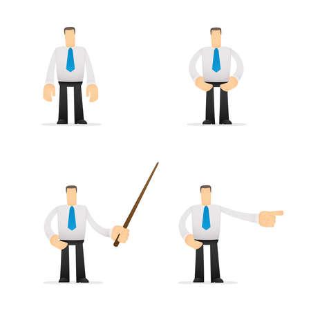 funny cartoon office worker Stock Vector - 14592985