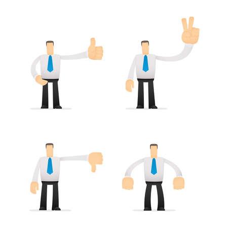 employee satisfaction: funny cartoon office worker Illustration