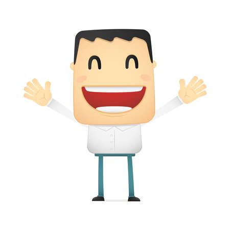 funny cartoon casual man Stock Vector - 14773007