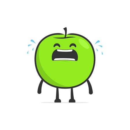 funny cartoon apple Stock Vector - 14773057