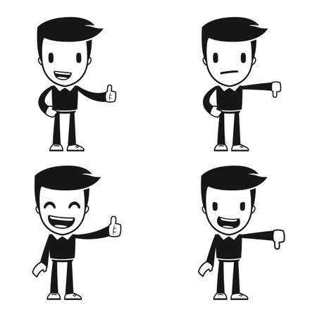 job satisfaction: funny cartoon helper man