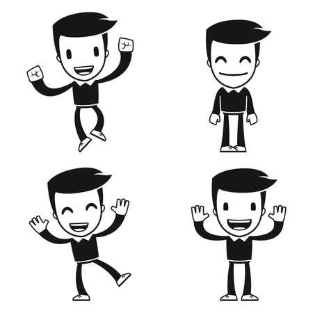 caricaturas de personas: historieta divertida del hombre ayudante