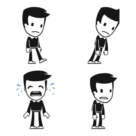 historieta divertida del hombre ayudante
