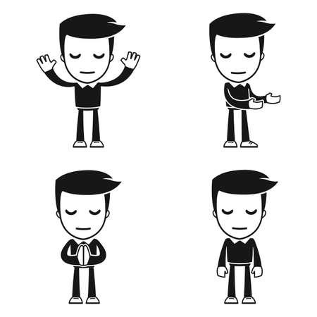 administrador de empresas: historieta divertida del hombre ayudante