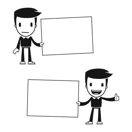 funny cartoon helper man