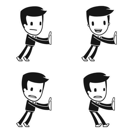 funny cartoon helper man Imagens - 14949295