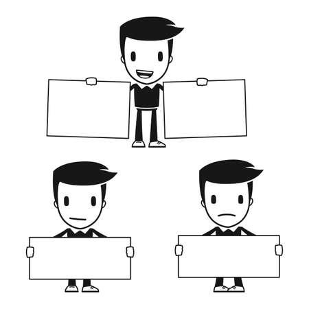 tutor: historieta divertida del hombre ayudante