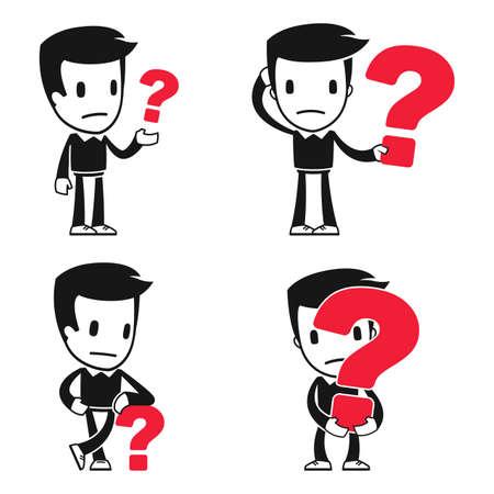 unsure: divertente cartone animato uomo helper