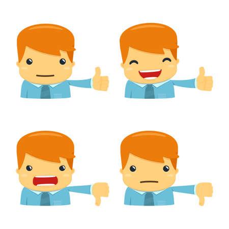 avatar cartoon manager Vettoriali