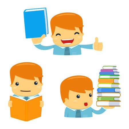 literary characters: avatar cartoon manager Illustration
