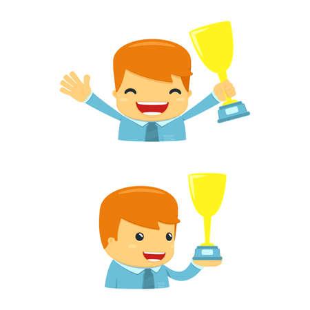 winner man: avatar cartoon manager Illustration