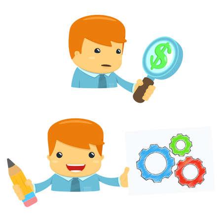 administrador de empresas: avatar director de dibujos animados
