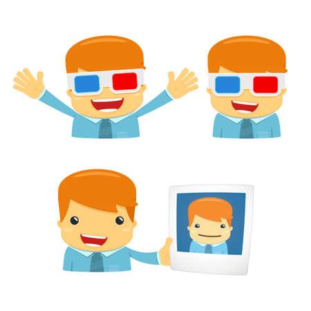 3d manager: avatar cartoon manager Illustration