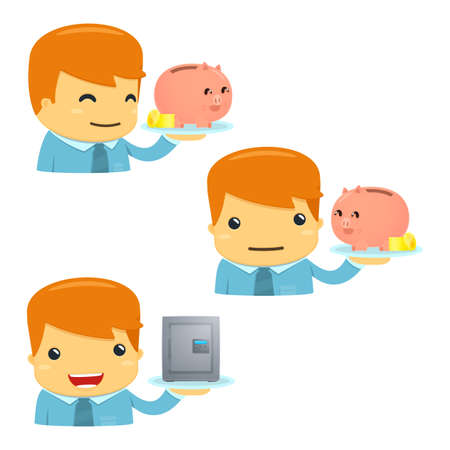 avatar cartoon manager Vector