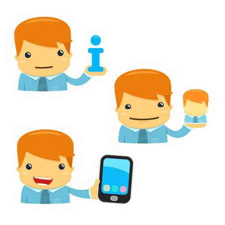 administrator: avatar cartoon manager Illustration