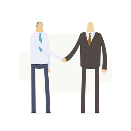 handshake employee and boss Stock Vector - 16550137