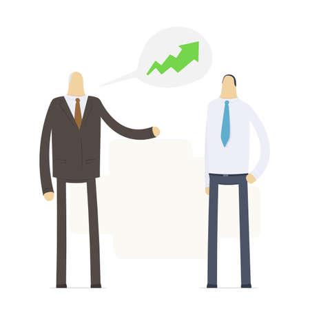 Boss praises an employee for good performance Stock Illustratie